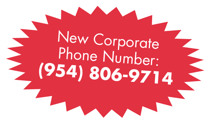 New Corporate Phone Number : (954) 806-9714
